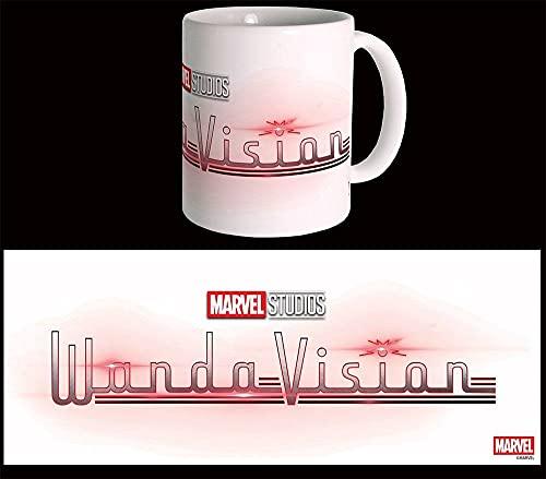 Taza de Marvel con logo de Wandavision