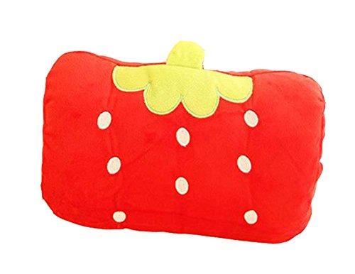 Nette Erdbeere Handwärmer Kissen kurze Plüsch Handwärmer Wederverwendbar
