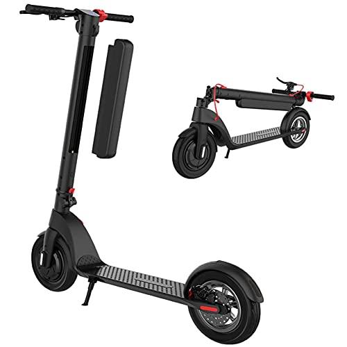 YYGG Patinete Eléctrico X8 - Neumáticos Sólidos de 10' - hasta 35-45 KM de Largo Alcance y 25 KM/H Patinete Eléctrico para Adultos con Tres Modos de Velocidad