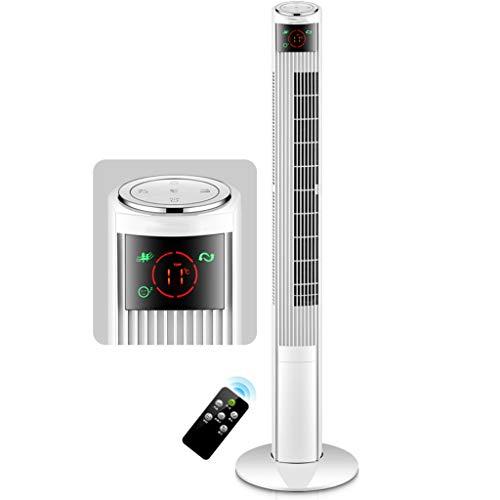 YUN HAI 47 Pulgadas sin Cuchilla oscilante Ventilador de la Torre W/Control Remoto de 3 velocidades del Viento y los Modos de Habitaciones 12H Temporizador Ventiladores for refrigeración de Aire