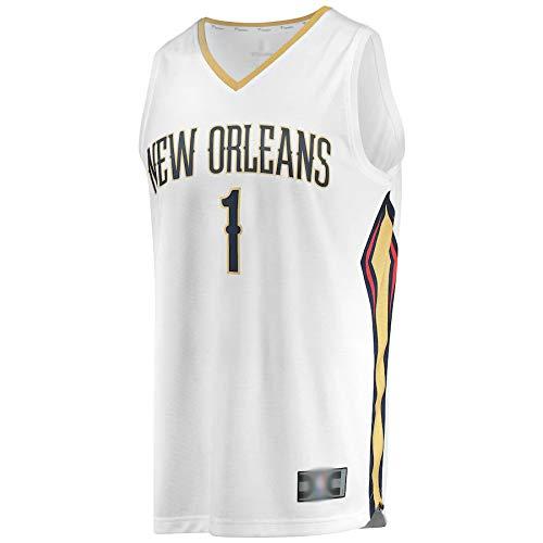 Camiseta de baloncesto para hombre Uniforme Zion New Orleans NO.1 Pelicans Williamson Draft First Round Pick Fast Break Réplica Jersey Blanco Transpirable Sudadera para Hombre Edición Asociación