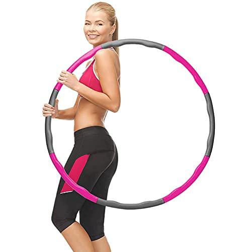 FATHE Hula Hoop Reifen, Hula Fitness Reifen für Erwachsene Zur Gewichtsabnahme und Formung, 6-8 Segmente Abnehmbarer Hoola Hoop Reifen mit Schaumstoff für Fitness (Begrenzt Auf Einen Pro Person)
