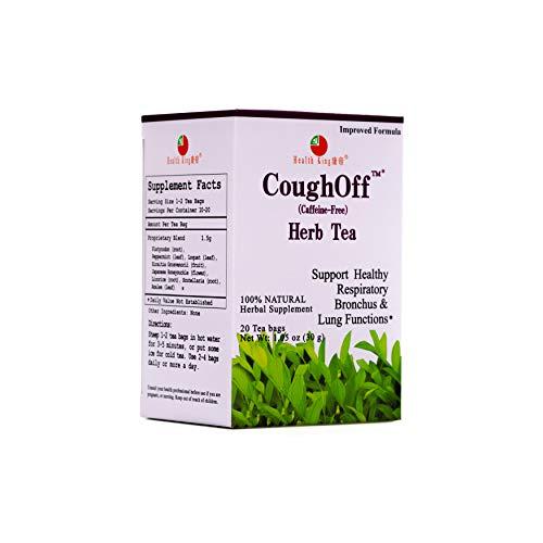 Health King CoughOff Herb Tea, Herbal Tea, 20 Tea Bags, medicinal, tea, functional herb tea, traditional, Peppermint, Loquat Leaf