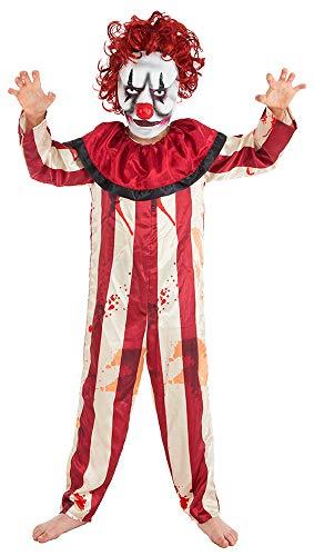 Das Kostümland Disfraz Infantil de Payaso Horror, Disfraz de Payaso Asesino para Halloween