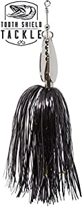 Tooth Shield Tackle Chubby Musky Bucktail (Black Nickel) Muskie Pike Double 8 Inline Spinner Musky Lures Baits Tackle