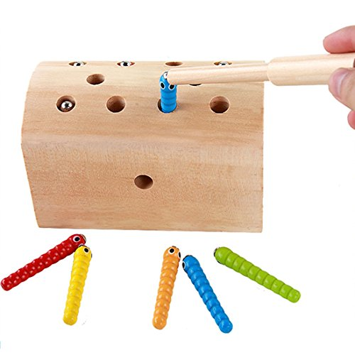 Darlington & Sohns Magneet behendigheidsspel voor kinderen, magnetische vissen, motorische vaardigheden reis-spel motorisch spel schatkist