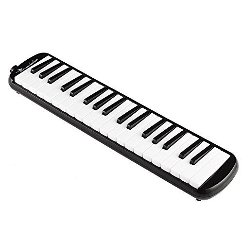 Swan 37 Keys Piano Molodica Musical Instrument with Carrying Case,Black