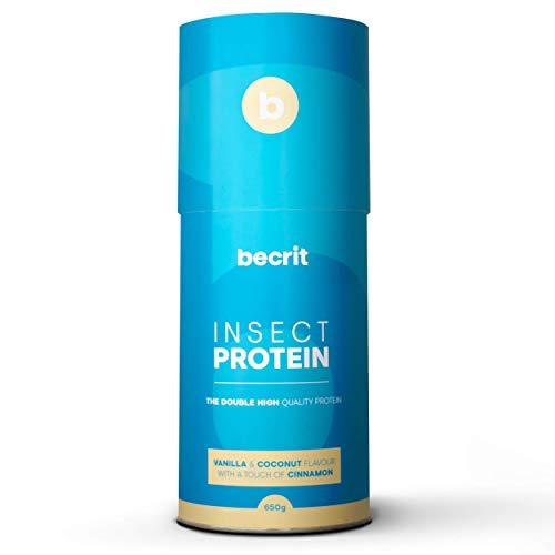 Proteina de Insecto y Vegetal en Polvo para Aumentar Masa Muscular - Batido Proteinas Sabor Vainilla - Suplemento Natural Deportivo Saludable No Quimico - Sin Lactosa NO Whey. (VAINILLA)