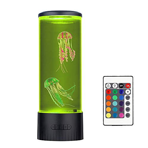Jellyfish Lava Lamp20 Color Changing with Remote, Electric Mood Lamp Decoration Night Light Tank Aquarium Home Office Gift for Men Women Kids