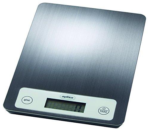 Zyliss ZE970048 Balance de cuisine électronique, balance numérique, 5 kg / fonction Tare, acier