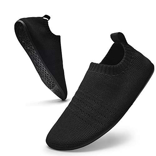 Sosenfer Hausschuhe Damen Herren Leichte hüttenschuhe rutschfest Flache Pantoffeln Home Cozy Slippers Unisex-HEISE-43