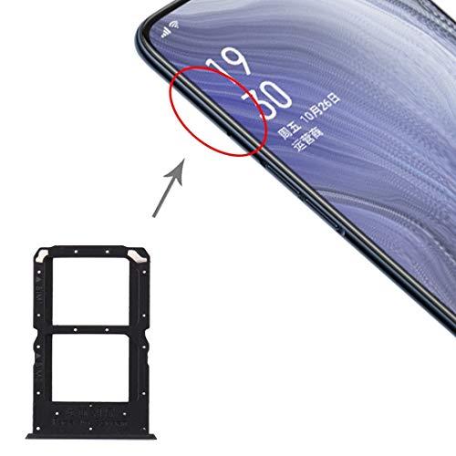 MOBILEACCESSORIES TL SIM Card Tray + SIM Vassoio di Carta for Oppo Reno Z (Nero) (Colore : Black)