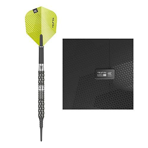 Target Darts Echo 11 20G 90% Tungsten Soft Tip Darts Set, Black and Green, 18g, 210045