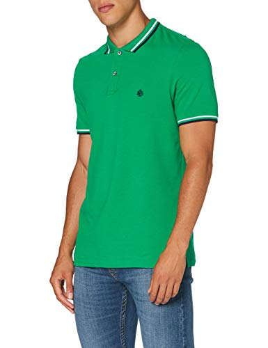 Springfield Herren 5ba BSC Slim Tipping Org-c/22 Poloshirt, Grün (Green 22), Large