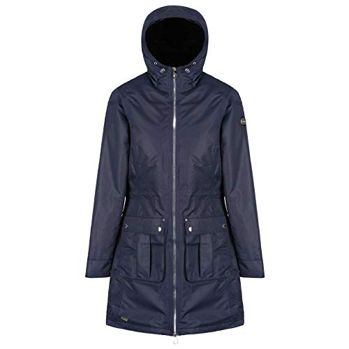 Regatta Damen Romina Waterproof and Breathable Insulated Hooded Jacke, Navy, Größe 38