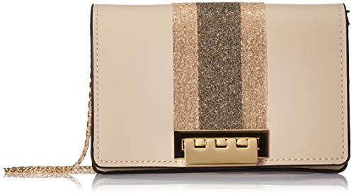 "Handbag Dimensions: 7.5""L x 2""W x 4.5""H 1 snap pocket, 1 slide pocket, 1 divider No Exterior pockets."