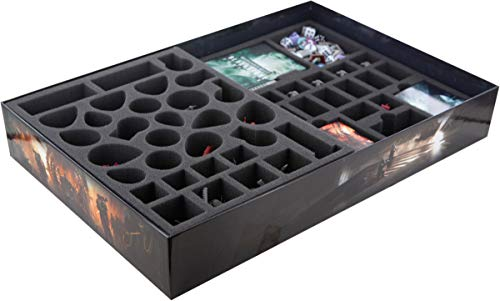 Feldherr Schaumstoff-Set kompatibel mit Warhammer Quest: Blackstone Fortress Brettspielbox