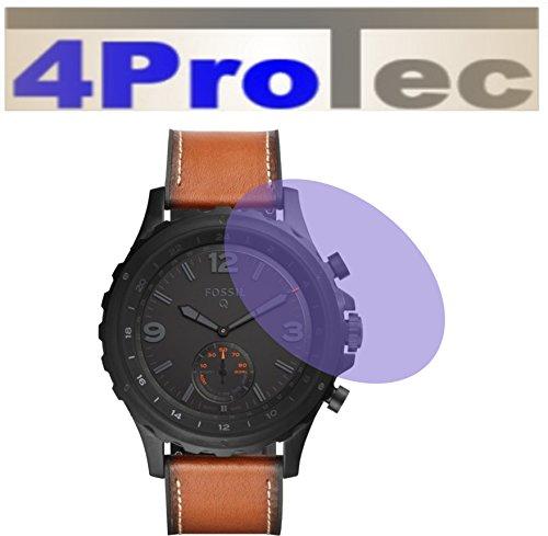 4ProTec I 2 Stück Displayschutzfolie CC für Fossil Smartwatch Q Nate Displayschutzfolie Bildschirmschutzfolie Schutzhülle Displayschutz Displayfolie Folie