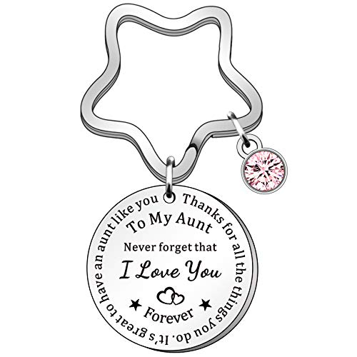 HULALA Personalised Auntie Keyring Never Forget That I Love You Keychains...