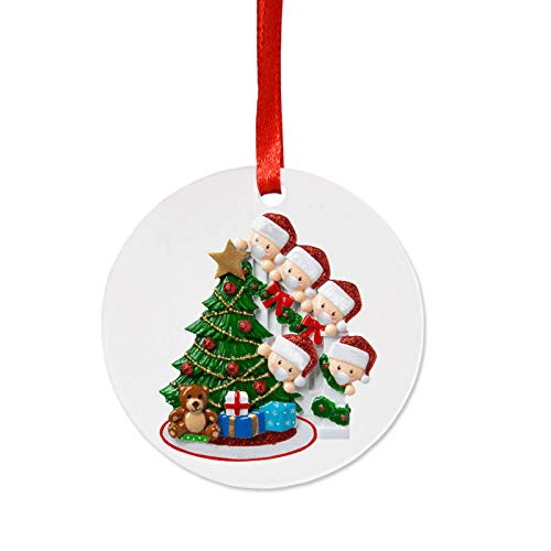 CHAW DIY Family Label Christmas Ornaments Personalized Ornaments, Family Signature Hanging Ornament for Christmas Decorations