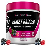 Honey Badger Pre Workout Powder | Vegan Keto Wild Berry Preworkout | Natural Energy for Men & Women...