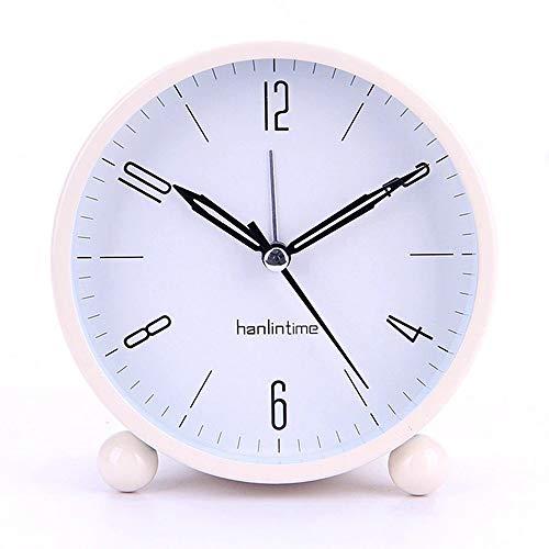 Reloj De Alarma Dibujos Animados Tiempo De Reloj para Despertar Despertar Reloj Despertador para Niños, Entrenador para Dormir para Niños, Niños Despertando Luz, Sonido De Sueño (Color : Pink)