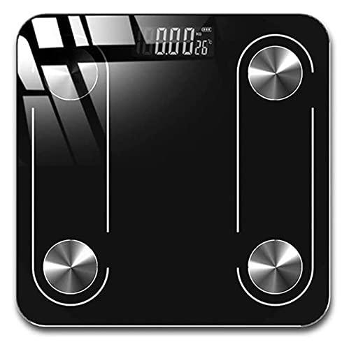 M3 Decorium Bluetooth Smart Bathroom Escalas de Grasa Corporal BMI Escala de Escala de Peso Corporal Digital LCD Pantalla de retroiluminación USB Cargadura (Color : Black)