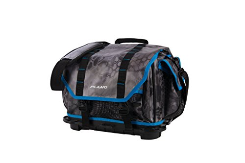 Plano PLAB36800 Tackle Storage, Z- Series Rust Free 3600 Size Tackle Bag, Kryptek Raid/Blue, Includes Five 3650 Stowaway Boxes, No-Slip Molded Bottom Design, Premium Tackle Storage, Kryptek Raid Blue