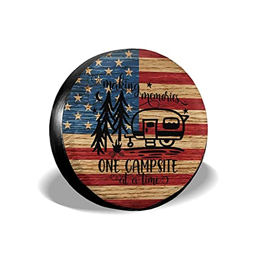 """Kadiman Making Memories Camping Spare Tire Cover Dust-Proof Wheel Protector for Trailer RV SUV Truck Camper Travel Trailer Accessories 14"""" 15"""" 16"""" 17"""""""