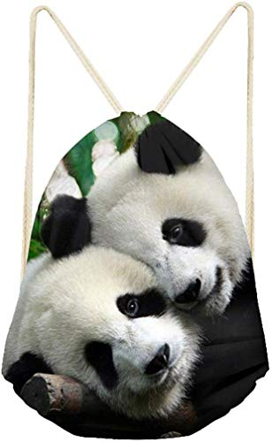 Coloranimal Mochila deportiva con cordón Kawaii Panda Printing Mochila Cinch Sack Gym Daypack Softpacks para viajes Yoga Fitness Bolsa de almacenamiento Bolsas de PE