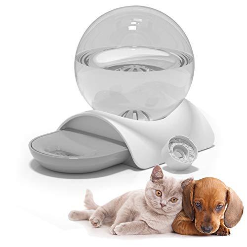 Replendish Gravity Waterer Dog Cat Water, Detachable Transparent Bowl Automatic Water Dispenser Bottle Pet Feeder for Small Medium Size Dog Cat 2.8L