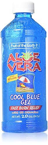 Fruit Of the Earth Aloe Vera Cool Blue Gel Bottle - 20 oz, Pack of 2