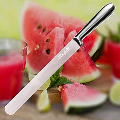 Hohe qualität Küchenmesser Große Früchte Messer Wassermelone Cantaloupe Cutter Küchenwerkzeuge 5Cr15mov Edelstahl scharfes Messer Multifunktionsmesser