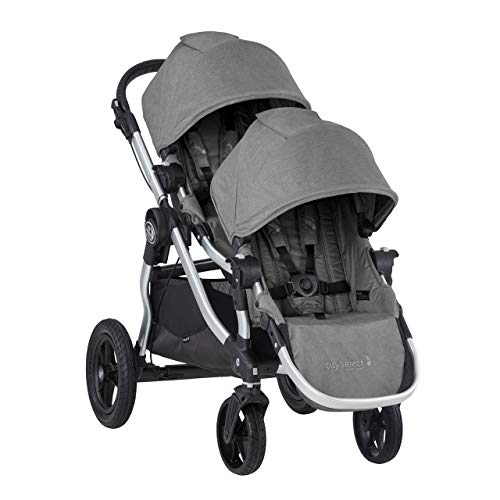 Baby Jogger City Select Double Stroller | Baby Stroller with 16 Ways to Ride, Included Second Seat | Quick Fold Stroller, Slate