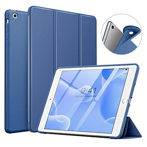 MoKo Funda Compatible con iPad Mini 3/2 / 1, Superior Delgada Protectora Case con Tapa Trasera Esmerilada Translúcida Compatible con Apple iPad Mini 1/Mini 2/Mini 3 - Azul Marino