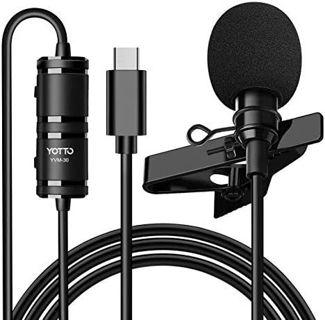 YOTTO USB Type C Lavalier Microphone for Android Omnidirectional Condenser USB C Clip on Lapel product image
