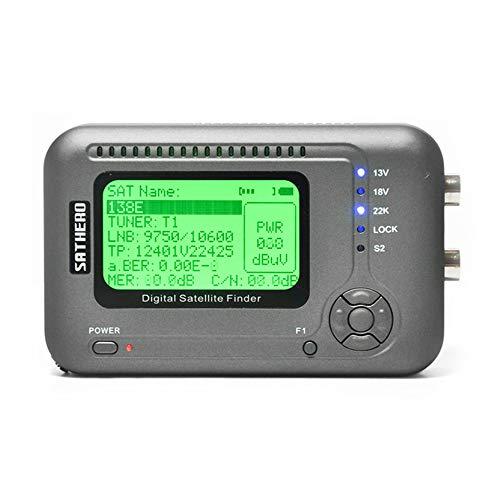 Docooler SATHERO SH-200HD Global Universal TV Buscador de señal Metro DVB-S / S2 HD Digital Meter MPEG-4 22KHz 13V / 18V con Pantalla LCD de 2.5 Pulgadas 2000mAh Battery EU Plug