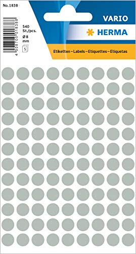 Zweckform Avery 3 Pck a 416 Stück Kreise Etiketten 3175 weiß Durchmesser 8 mm