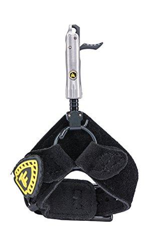 Trufire BDBF Bulldog Buckle Foldback Archery Compound Bow Release - Adjustable Black Wrist Strap, One Size