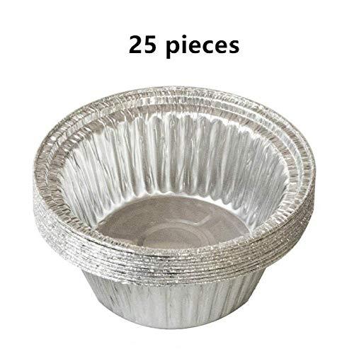 Bakblikken, tin Pallets, Verdikte eenmalige folie pan aluminiumfolie afhaalrestaurants for het bakken, koken, invriezen en opslaan Trays (25 stuks) 8bayfa