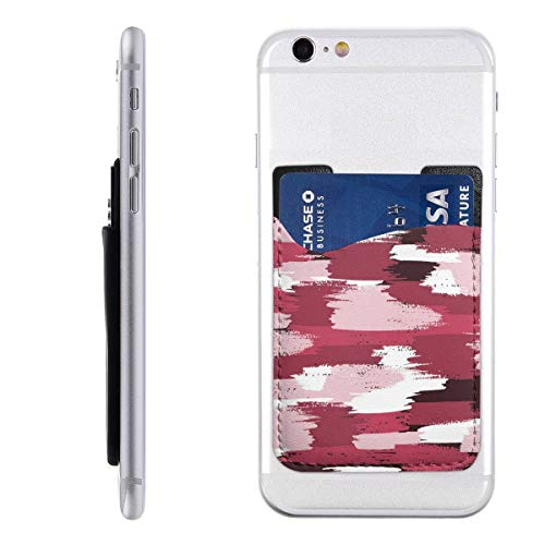 Camo Pink Camoflauge Cool Army Military Tactical Card Cell Phone Case for iPhone 11/Se 2020/Xr/7 8 Plus/11 Pro Max/Xs Max, Android Samsung A20/Galaxy S10/A10e/S10,Lg Pocket Holder Pu Leather