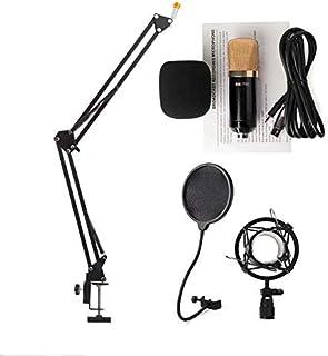 مجموعة ميكروفون استوديو للتسجيلات الصوتية بمكثف BM700 وحاجب للرياح، بوب فلتر، ستاند حامل قابل للطي للغناء