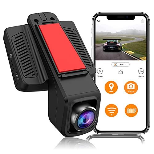 Dashcam Caméra Embarquée Voiture, WiFi GPS Full HD 1080P Caméra de Voiture Grand Angle de 170°, IPS 2.45 Pouces Dash Camera Voiture Conduite Enregistreur avec Mode de Stationnement
