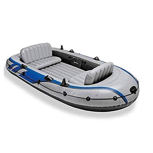 Vier-Personen-Schlauchboot Set, 0,75 M High-Density Starke Polymer-Kunststoff, robust, Abriebfest und druckbeständig, ungiftig und geschmacklos, beständig gegen Benzin ZHANGKANG
