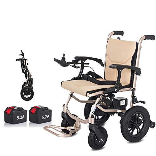Elektrische Rollstühle Folding Leichtes für Erwachsene Ältere Behinderte, Open / Fast-fach Electric Chair Antrieb mit Energie oder manuellen Rollstuhl, Comfort Transit Travel Chair,Dual Control