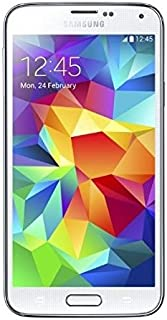 Samsung Galaxy S5 G900F Unlocked Cellphone, International Version, Retail Packaging, White