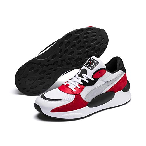 Puma Rs 9.8 Space', Sneaker Unisex-Adulto, Bianco White-High Risk Red, 43 EU