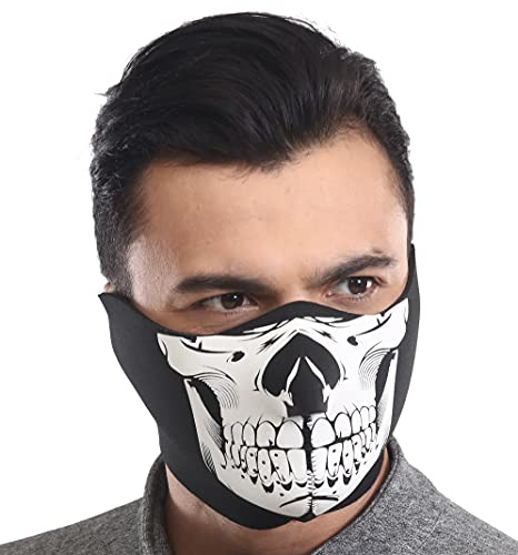 Neoprene Half Face Ski Mask for Cold Weather - Men's Windproof Winter Balaclava Mouth Cover for Motorcycle Riding & Skiing