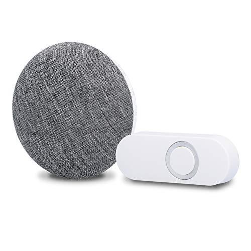 UNITEC Plug-in MP3 Funk Gong | Türklingel | Zum Einstecken in die Steckdose | Aufspielen eigener Melodien | 130 m Reichweite