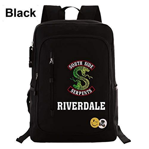 Mcvrv Riverdale Viper para Ayudar a los Adolescentes Mochila Escolar con Cremallera para Hombres y Mujeres Mochila Bolsa de Viaje,33